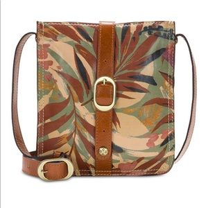NWT Patricia Nash leather palm leaves crossbody